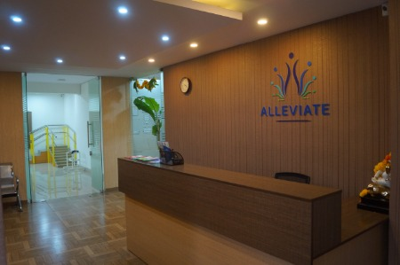 Reception at Alleviate Pain Clinic