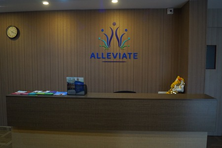 Reception desk at Alleviate Pain Clinic